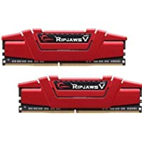 G.SKILL Ripjaws V Series 32GB (2 x 16GB) PC4-24000 3000MHz DDR4 288-Pin DIMM Desktop Memory (Red)