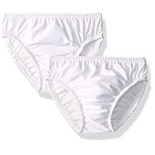 My Pool Pal Kids 2 Pack Swim Diaper Cover, White/White, 4 Toddler