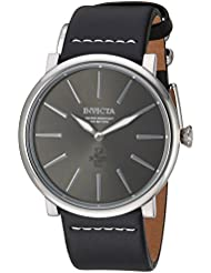 Invicta Mens I-Force Quartz Stainless Steel and Leather Casual Watch, Color:Black (Model: 22930)