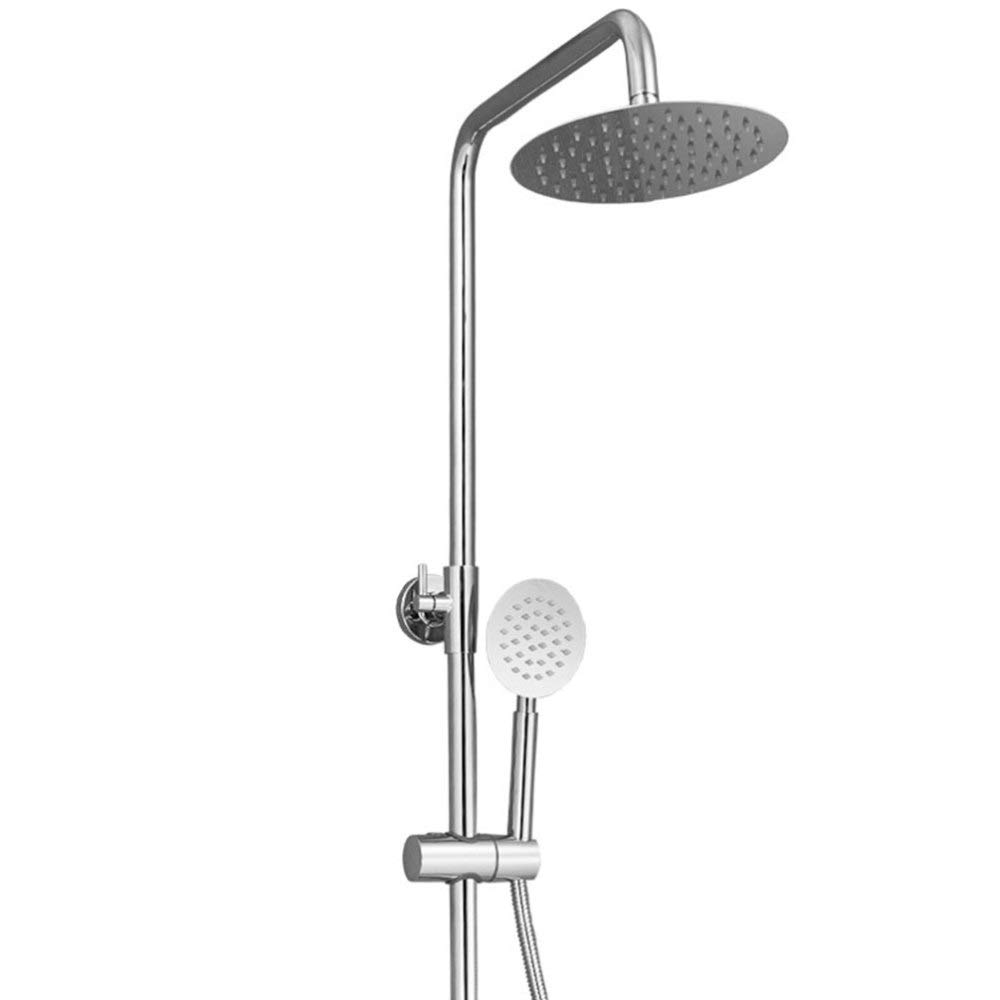 DYMAS Shower Surface Mounted Three-Speed Lift Shower Shower Set with Shelves