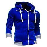 DDSOL Men's Plus Size Sport Sweatshirt Tops Long Sleeve Zipper Fleece Hoodie