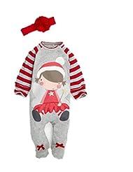 Baby Boy Long Sleeve Romper Newborn Santa Claus Cotton Jumpsuits