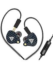 Lepeuxi QKZ VK4 Hoofdtelefoon, bekabeld 3,5 mm sporthoofdtelefoon, in-ear spoel, mobiele muziek, hoofdtelefoon, besturing, in-ear hoofdtelefoon met afneembare microfoon, reservekabel