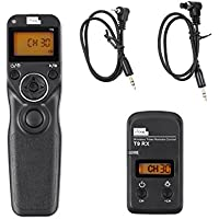 Pixel T9-E3/N3 LCD FSK 2.4GHz Wired & Wireless Shutter Release Timer Remote Control with Two Cables for Canon EOS 1200D/1100D/1000D/760D/750D/700D/650D/7D series/50D/40D/30D/10D (N3/E3)