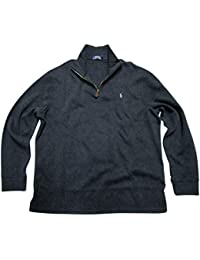 Mens Half Zip French Rib Cotton Sweater