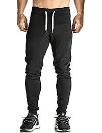 Men's Elastic Cuffed Casual Drawstring Training Jogger Athletic Pants Sweatpants