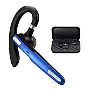 #LightningDeal Bluetooth Headset, COMEXION Wireless Bluetooth Earpiece V4.1 Hands-Free Earphones with Stereo Noise Canceling Mic, Compatible iPhone Android Cell Phones Driving/Business/Office (Blue)