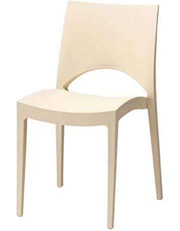 Sedie Di Plastica Colorate.Sedie Impilabili Casa E Cucina Amazon It