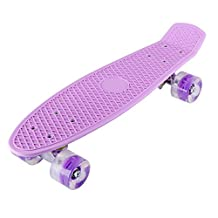 Kids Skateboard U-KISS Mini Double Kick Concave Deck Skating Skateboard with Colorful LED Light Up Wheels for Kids, Boys, Girls, Youths, Beginners