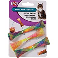SPOT Ethical Pet Catnip Cat or Kitten Toy, Colorful Fun Tubes. Interactive Bouncy cat Toy