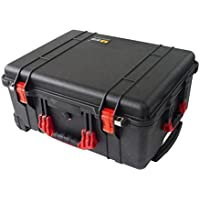 Pelican Colors series 1560 Black w/ Red Handles & latches. No foam - Empty.