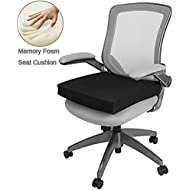 Big Hippo Seat Cushion for Back, Sciatica and Tailbone Pain Relief-Memory Foam Chair Seat Cushion Pad for Wheelchair, Office & Car