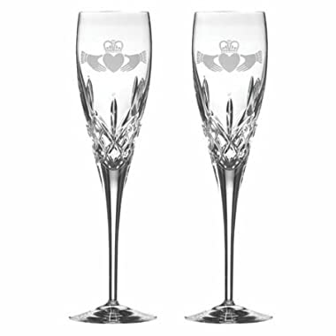 Galway Claddagh Flute Champagne Pair