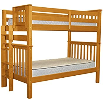 twin over queen loft bed with stairs this item king tall mission style bunk end ladder honey college beds xl white wood