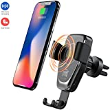 Wireless Car Charger, ZACTEK Car Mount Vent Gravity, Air Vent Phone Holder, QI Fast Charger Compatible with iPhone Xs/XR/XS Max/X 8 Plus,Samsung Galaxy S9/S8/S7 Note 8