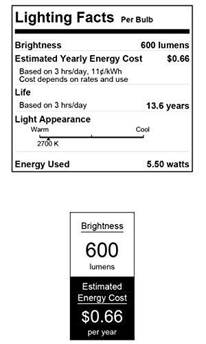 Westinghouse Lighting 4513600 60-Watt Equivalent A15 Soft White LED Light Bulb with Medium Base, Single Pack