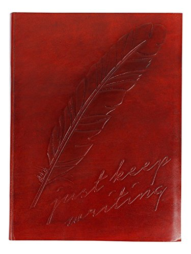 Store Indya Handmade Vintage Inspired Leather Journals Personal Organizers Travel Notebook Diary (Feather Motif)