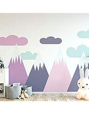 Ambiance Sticker Schattige bergen muur stickers, DIY Home Decor, verwijderbare Stickers Peel en Stick, waterdichte en zelfklevende Wall Art