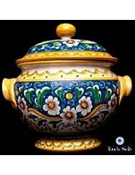 Touch Of Sicily Italian Handmade Ceramic Soup Tureen Flowers