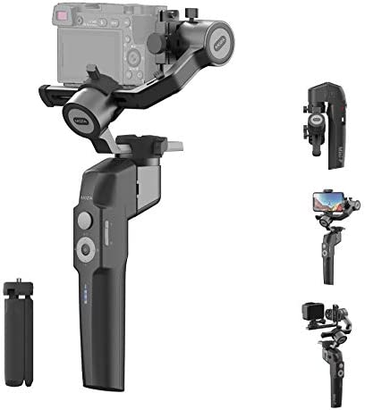 MOZA Mini P Gimbal Stabilizer Handheld 3 Axis Gimbal 4-in-1 for Mirrorless&Compact Camera for iPhone Android Smartphone for Action Camera CrossPro as much as 1.98Lb Payload