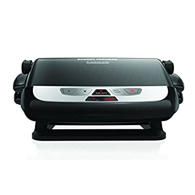George Foreman GRP4842MB 3-in-1 Multi-Plate Evolve Grill, Electric Grill, (Panini Press, Grilling, and Waffle Plates Included), Black