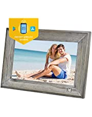 KODAK Klassieke digitale fotolijst hout 1013W, 10 inch touchscreen elektronische fotolijst Wi-Fi ingeschakeld, cloudopslag, 16 GB intern geheugen met beeldmuziek videofunctie enz.