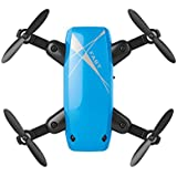 Ounice S9 Altitude Hold 0.3MP HD Camera 6-Axis Foldable WIFI RC Quadcopter Pocket Drone (Blue)