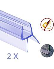 Oladwolf guarnizione doccia sottoporta, 2PCS 6mm / 7mm / 8mm guarnizioni box doccia, 100cm addensato guarnizione box doccia Non è richiesta la colla