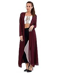 Momo&Ayat Fashions Ladies Chiffon Sheer Mesh Plain Kimono Duster Maxi Jacket CA Size 4-22