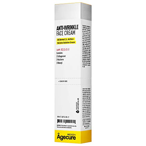 NEOGEN Agecure Niacinamide, Snail Mucin Extract Repair Anti Aging Cream for Face and Eye, Wrinkle Dark Circles and Wrinkle Care Day&Night Cream, 1.48 oz