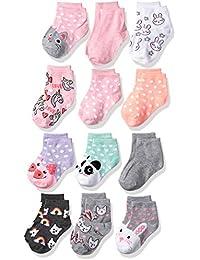 Little Girls 12 Pack Shorty Socks