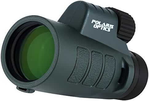 Polaris Optics Outdoorsman 8X42 Compact Wide View Monocular for Deliciously Bright, Crisp Images. One Hand Focus. Lightweight, Waterproof, Fogproof, Tripod Capable. For Bird Watching and Hiking
