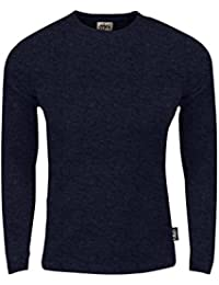 Men's Thermal Long Sleeve Crewneck Waffle Shirt XS-5XL