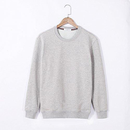 Lisux große Code und großen im Herbst und Winter Pullover - Kaschmir - Pullover und Slim Farbe Plus Pullover,hellgrau,m