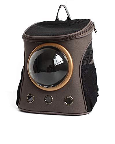 KTYX Zaino per Animali Domestici Canvas Space Outdoor Pet Cabin Backpack Leggero E Traspirante Spalla Portatile Prodotti per Animali (colore   Dark grigio)