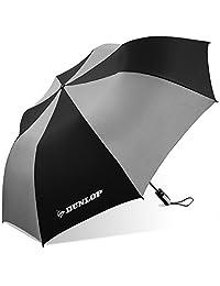 Dunlop - Paraguas plegable para dos personas (56-DL, color azul, Negro/Gris, Una talla