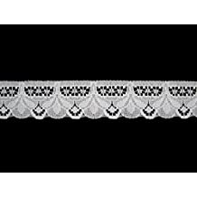 Altotux 1 inches White Raschel Lace Trim By Yardage Wholesale Lot By 10 Yards