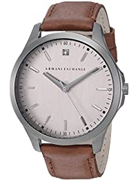 Armani Exchange AX2195 Watch, Men, Gunmetal Brown Leather