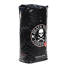 Death Wish Coffee, The World's Strongest Whole Bean Coffee, Fair Trade and Organically Grown, 16 Ounce Bag