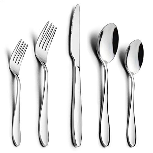 40-Piece Modern Silverware Set
