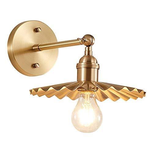 Plafonnier Veilleuse Rechargeable Lampepays D'Amérique Pleine De Cuivre Lampe De Mur Salon Salle à Manger Chambre étude Couloir Simple Créatif Pur Cuivre