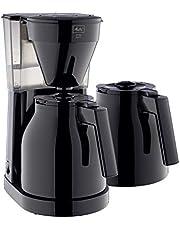 Melitta Easy Therm 1023-06 + 2 kannen filterkoffiezetapparaat, kunststof zwart