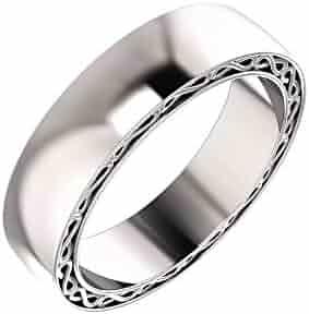Platinum Infinity-Inspired Anniversary Wedding Men Gents Band - Size 10.5