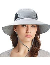 Outdoor Sun Hat UV Protection Bucket Mesh Boonie Hat Adjustable Fishing Cap