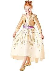 زي تنكري فاخر للاطفال على شكل فستان شخصية انا من فيلم ديزني فروزن 2 من روبيز، مقاس Medium، عمر 5-6 سنوات
