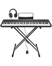 SDP-2 Piano de Scène + Stand Pédale et Casque par Gear4music