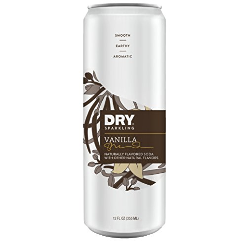 DRY Non-Alcoholic Vanilla Botanical Bubbly I 4 Clean Ingredients I Delicious Way to Be Sober & Social I Zero Proof Mocktail Mixer I Craft Non-Alcoholic Multi-Use Beverage