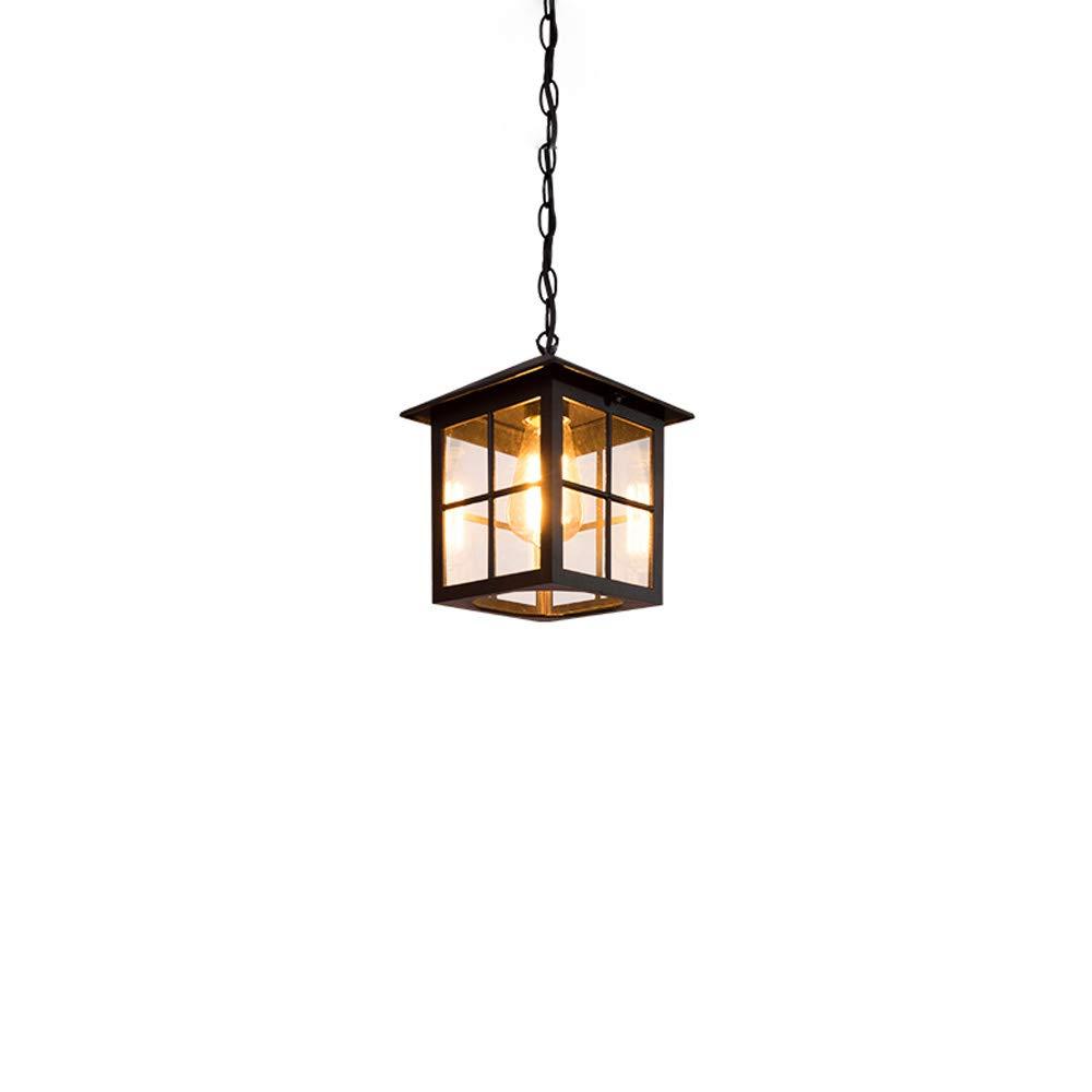 IP44 Outdoor Vintage Bronze Laterne Deckenpendelleuchte Aluminium Mit Klarglas Retro Villa Balkon Hof Korridor Gang Dekor Garten Außen Pendent Lampe