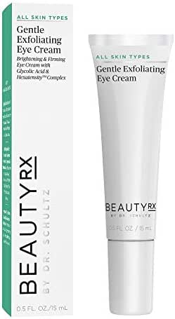 BeautyRx by Dr. Schultz Premium Gentle Exfoliating Eye Cream for Dark Circles, Wrinkles & Puffiness, 0.5 fl. oz
