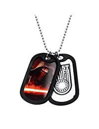 Star Wars Jewelry Episode 7 Kylo Ren Stainless Steel Double Dog Tag Pendant Necklace, 22""